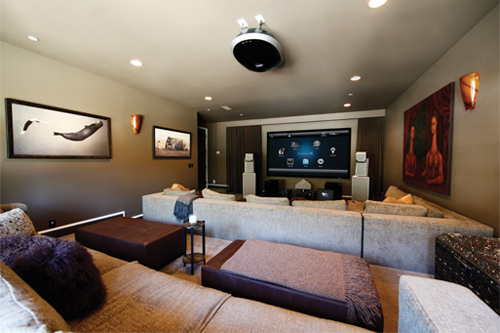 Home Automation integrated into Custom Home Theater Room